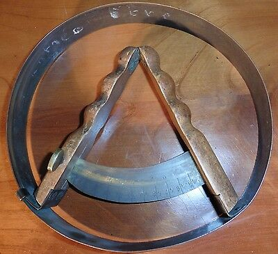 Unusual French Milliners Hat Band Stretcher, Brass Gauge