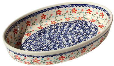Polish Pottery Oval Baker from Zaklady Boleslawiec 350/964
