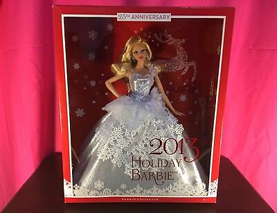 Holiday Barbie -- 2013 Holiday Barbie Doll 25Th Anniversary New