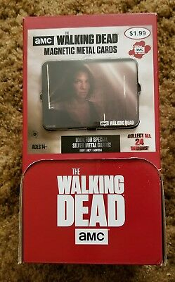 AMC THE WALKING DEAD Magnetic Metal Cards Magnets DISPLAY BOX With Maggie Magnet