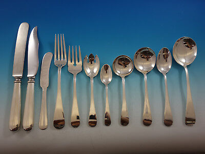Old English Antique by D&H Sterling Silver Flatware Set 12 Service 141 pcs Huge