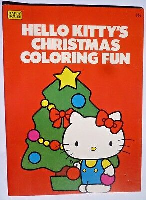 Vintage 1982 Hello Kitty's Christmas Coloring Fun Book by Happy House UNUSED