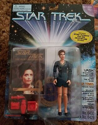 PLAYMATES 1995 VASH STAR TREK THE NEXT GENERATION  ACTION FIGURE Combo Card