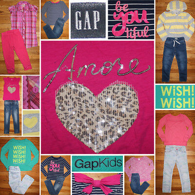 Girls Size 6X/7/8 Fall Clothes Lot, Jeans, Tops, Gap Kids+
