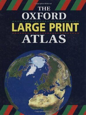 The Oxford Large Print Atlas Hardback Book The Cheap Fast Free Post
