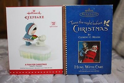 Hallmark Ornament Lot 235: Frosty Friends+ 'Twas the Night Before Christmas