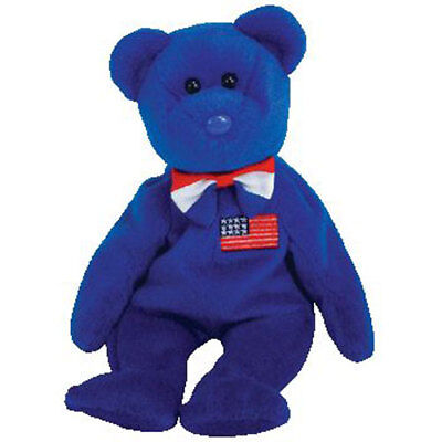 TY Beanie Baby - JOHN the Bear (8.5 inch) - MWMTs Stuffed Animal Toy