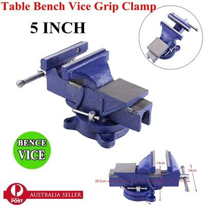 "5"" Heavy Duty Bench Vice, Grip Clamp Capacity 125mm, Swivel Base,NSW STOCK"