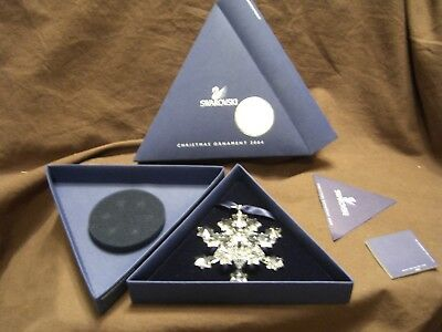 Swarovski Crystal 2004 Large Snowflake Retired Christmas Ornament New In Box