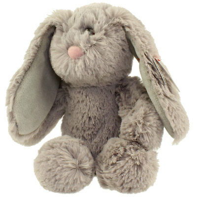 TY Attic Treasures - PUFFIN the Grey Bunny (Regular Size - 8 inch) - MWMTs