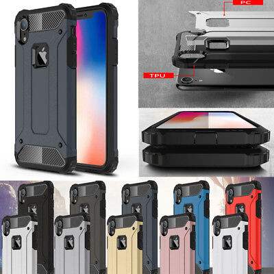 Luxury Shockproof Rugged Armor Hybrid Hard Cover Case For iPhone XS Max XR X 8 7