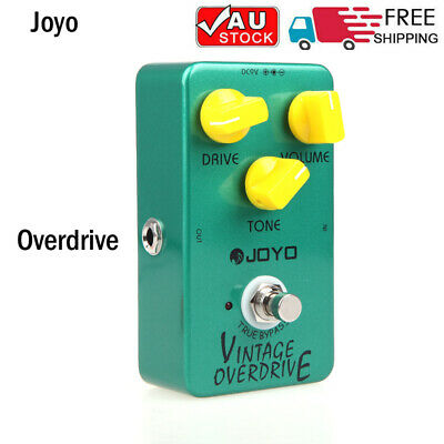 JOYO JF-01 True Bypass Vintage Overdrive Guitar Effect Pedal Volume Controls