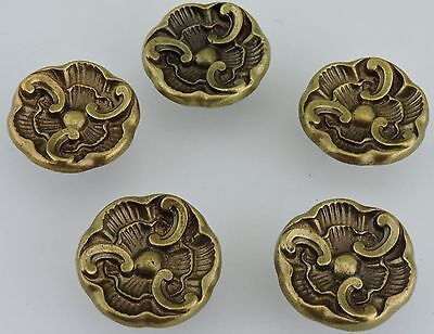 Vintage Door Knob Pull Handle Brass/bronze Or Metal Alloy Rosette 5 Lot Hardware