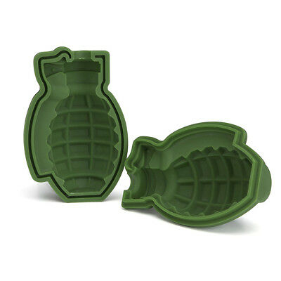 Creative 3D Grenade Ice Cube Mold Maker Silicone Trays Mold Bar Party Gift