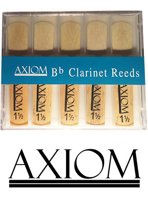 Axiom Clarinet Reed 1.5 - Box of Ten Quality Clarinet Reeds