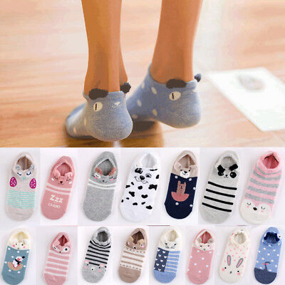Women Lovely Cute 3D Cartoon Animal Zoo Socks Ladies Girls Cotton Warm Soft Sox