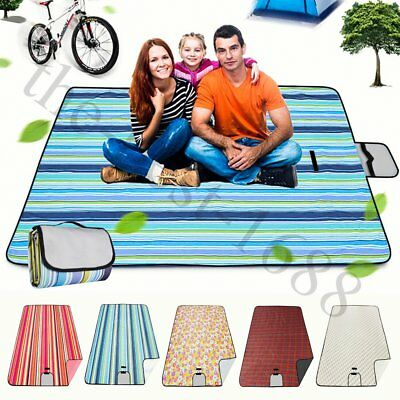 200*150CM Waterproof Picnic Blanket Rug Travel Outdoor Beach BBQ Camping Mat AU