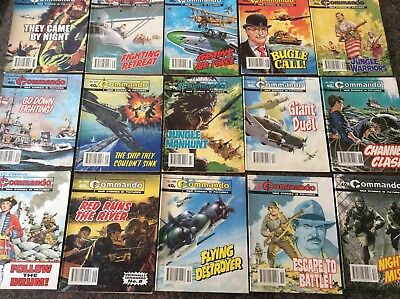 COMMANDO COMICS x 15 ~ War Stories in pictures Comics ~ 40p cover price ~ 1990s
