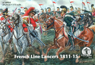 Waterloo 1815 1/72 AP054 Napoleonic French Line Lancers (12 Figs, 12 Horses)