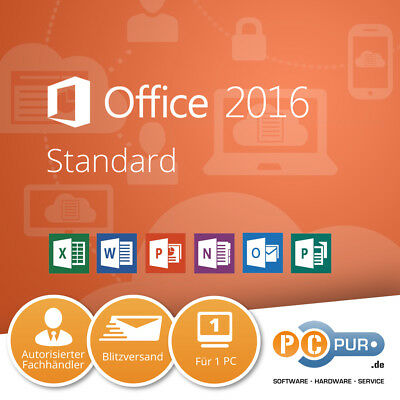 MS Microsoft Office Standard Original Vollversion 32/64-Bit NEU