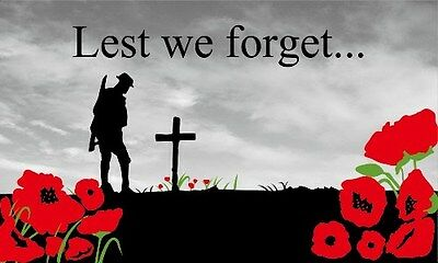new design lest we forget poppy flag 5 x 3 remember them rememberance day army