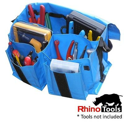 Electricians Tool Bag  Heavy Duty Weatherproof  Electrician Toolbag blue