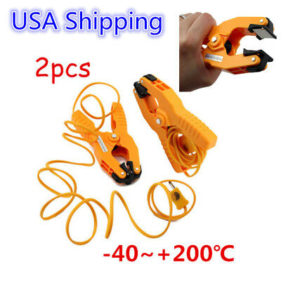 2pcs K-type Probe Pipe Clamp Thermocouple Temperature Thermometer US Shipping