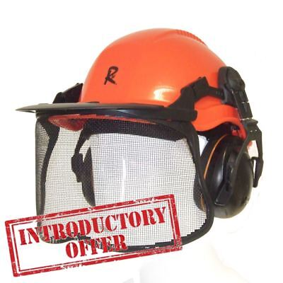 The All NEW ROCWOOD Professional Chainsaw Forestry Safety Helmet And Full Visor