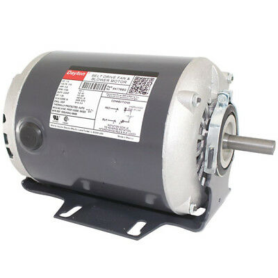 Dayton 1/3 HP Belt Drive Motor, Split-Phase, 1725 Nameplate RPM, 115 Voltage,
