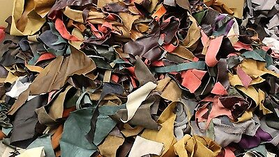 5KG Bag Of Mixed Colours Quality Leather Arts & Crafts,Off Cuts,Scrap,Remnants