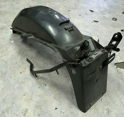 Suzuki gs 500 gs500E 2008 rear tail number plate holder under tray guard