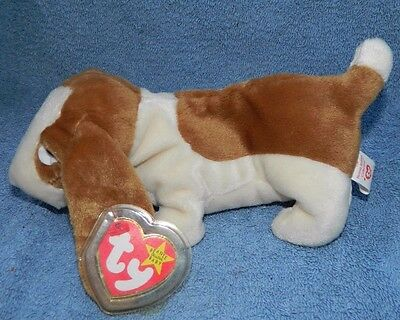 bf920ba7e6e RARE TY Beanie Baby TRACKER Dog w  ERROR RETIRED Mint Condition Mint Tags
