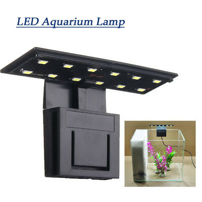 220V 12 LED Aquarium Light Clip Plante Éclairage Lumière Poisson Lamp Ultra-thin