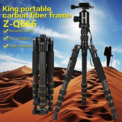 Zomei Q666 Pro Tripod Monopod Travel Camera Aluminum Ball Head for DSLR Camera s