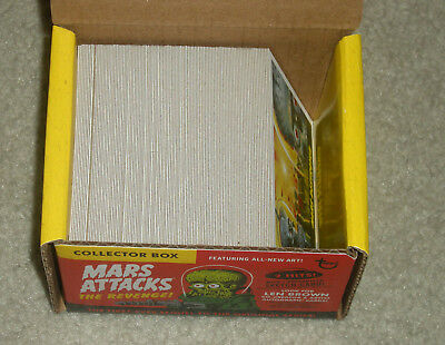 2017 Topps MARS ATTACKS Revenge 110-card set 55 base+55 pencil art+ ORIGINAL BOX
