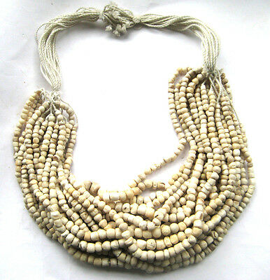 400 A.D Ancient Egypt Coptic Period Shell Necklace Bead & Amulet Set