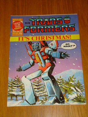 Transformers British Weekly #145 Marvel Uk Comic 1987