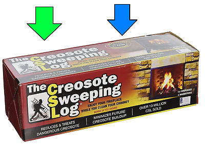 New CSL Creosote Sweeping Fire Log 1-1/2 hr. Burn Indoor Use Safe for Cooking