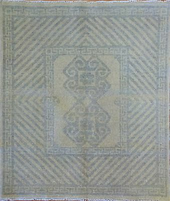 Amazing Afghan - Vintage Khotan Design - Transitional Oriental Rug - 3 x 3.5 ft