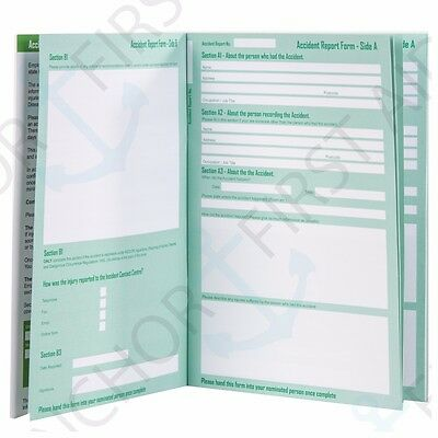 A5 Accident/Injury Report Book HEALTH/SAFETY Data Protection Act 1998 Compliant