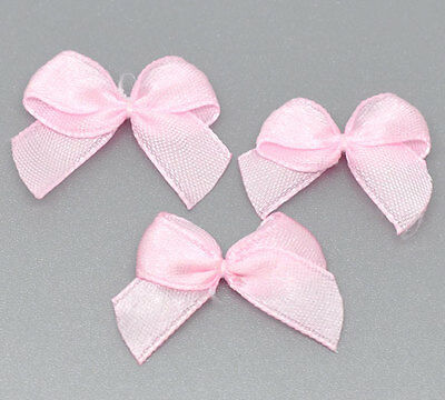 wholesale lots Pink Ribbon Bow Wedding Scrapbooking Embellishment 25x20mm
