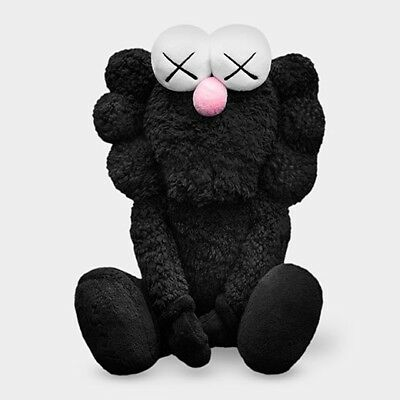 KAWS BFF Plush Companion Black  Where The End Starts Numbered Sold Out