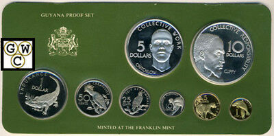1977 National Coinage of Guyana Eight-Coin  Proof Set (OOAK)