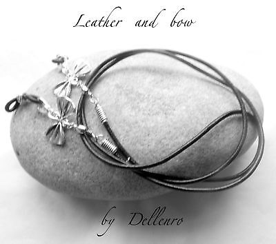✫Leather & Bow✫ Eyeglass Glasses Spectacle Chain Holder  Cord