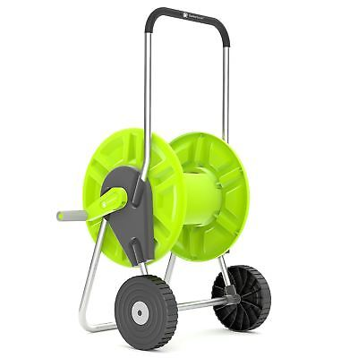 60M Portable Hose Troley Reel for Garden Watering Pipe Cart Free Standing Winder