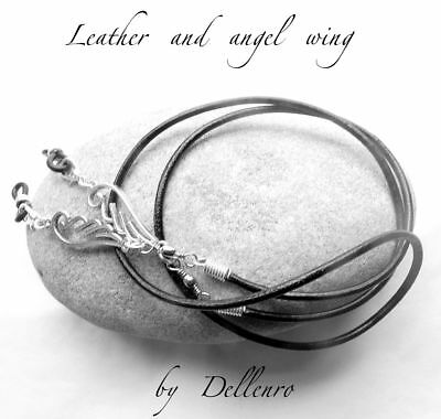 ✫Leather & Angel Wing✫ Eyeglass Glasses Spectacle Chain Holder  Cord