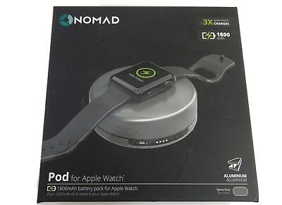 New Open Box Nomad Pod Portable Charger 1800mAh For Apple Iphone Watch A