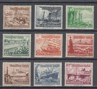 WWII Third Reich 1937  Winter Relief Fund WHW Full Set MNH  Luxe