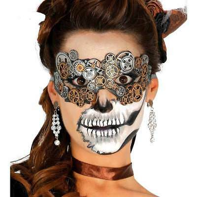 Stunning Ladies Steampunk Mask Victorian Cogs Halloween Fancy Dress