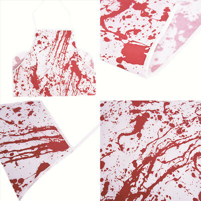 Printed Bloody Apron Murder Halloween Baking Kitchen Novelty Gift Blood Stained#
